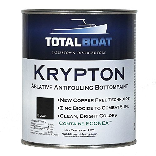 (TotalBoat Krypton Bottom Paint (Black, Quart))