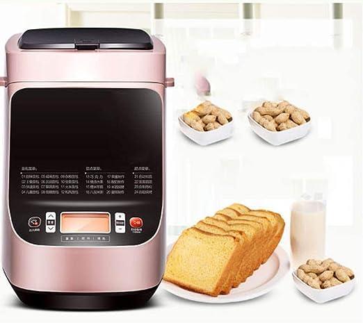 FEOPW Multifunctiona Máquina de Hacer Pan, Pan automática máquina Multi funcionales Inteligentes panadería for Hornear 3 Colores 2 Peso Opciones Bead Maker con Temporizador for el hogar: Amazon.es: Hogar