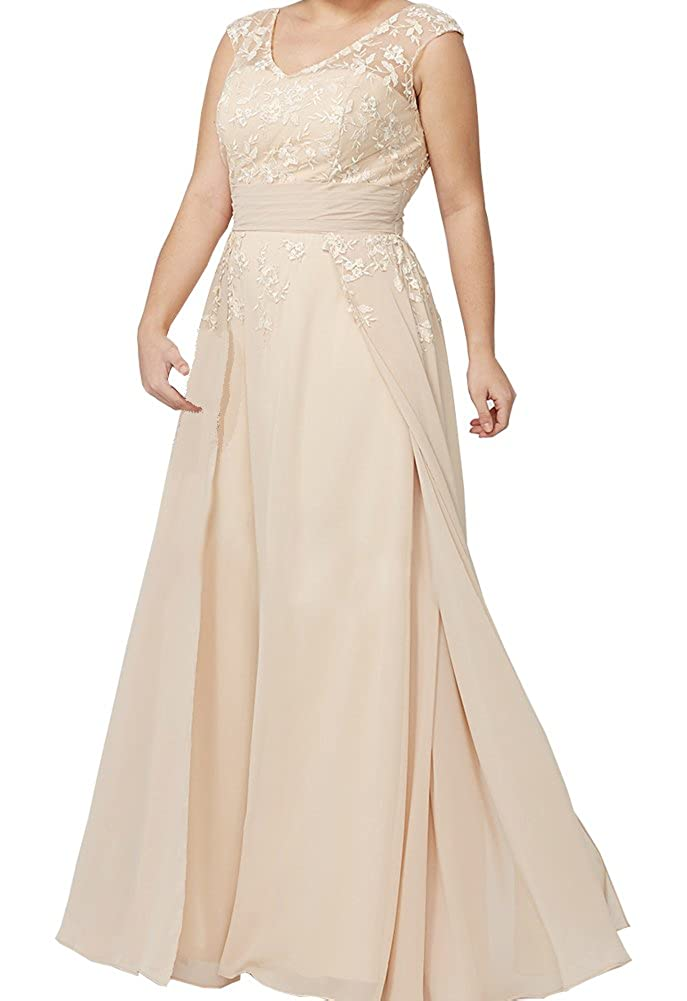 77b6f60031f3 ShineGown Mother of The Bride Dress Long Plus Size Custom Made Lace  Applique Chiffon Gown  Amazon.co.uk  Clothing