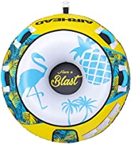 Airhead Blast Towable Tube for Boating with 1-4 Rider Options