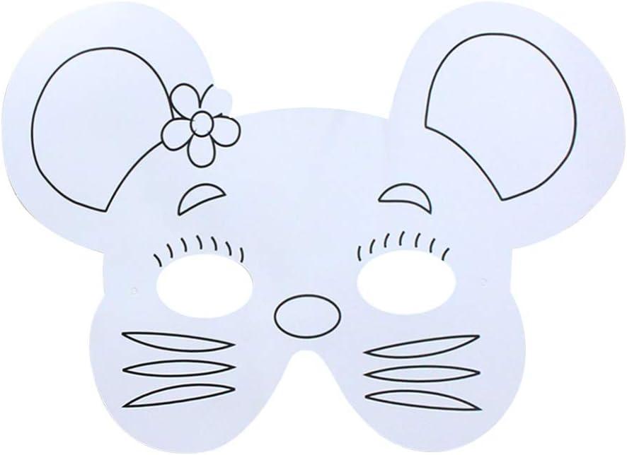 Xrten 16 St/ücke Masken zum Ausmalen Kinder Tiermasken Tiergesichtsmasken Blanko Bemalen Masken f/ür Kindergeburtstag und Karneval