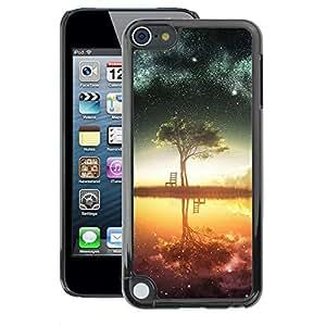 Apple iPod Touch 5 , JackGot - Impreso colorido protector duro espalda Funda piel de Shell (Galaxy Tree)