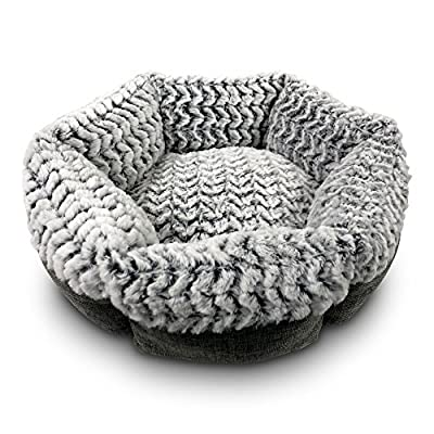Pet Craft Supply Co. Round Machine Washable Memory Foam Comfortable Ultra Soft All Season Cat Small Dog Bed