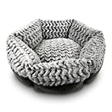 Memory Foam Dog Bed - STUFT Soho Round Chocolate Machine Washable Memory Foam Pet Bed
