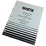 """White Yard Boss T-82 With 34"""" Mower Lawn Parts Catalog Operators Manual Instruct"""