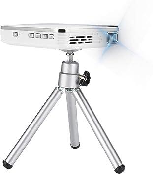Opinión sobre Mini Proyector Portatil, WiFi HDMI 2000 Lúmenes Proyector de Cine en Casa Pequeño Proyector de teléfono Blanco 100-240V(EU Plug)