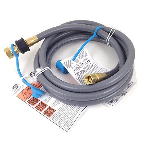 Weber #99263 10 Foot 3/8 Inch Natural Gas Hose Kit with 3/8 Quick Disconnect Fitting (Weber Grill Conversion Kit Propane To Natural Gas)