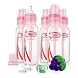 Dr. Brown's Bottles Gift Set with Pacifier/Teether/Nipples, Girl, 8 Ounce