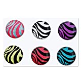 eForCity Home Button Sticker for iPod touch/iPhone/iPad (Zebra Patterns)