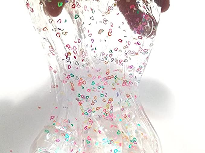 valentines day gifts for kids - clear slime with hearts