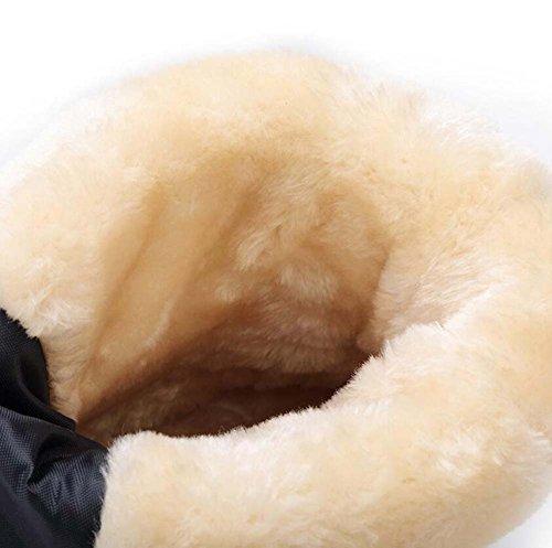 Plüsch im Baumwolle runde unteren Bootie Eu paar White Größe 3cm 42 warme Kappe Wadenstiefel leichte Unisex Winter hohe Kordelzug Schneeschuhe dicken wasserdicht Freien rutschfeste Stiefel 34 mittlere w8xnUZ