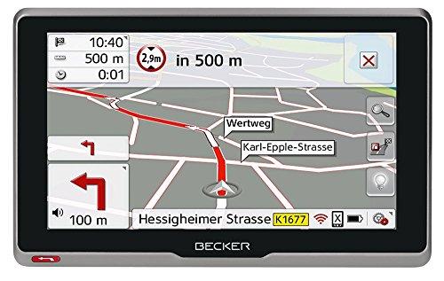 Becker transit.6sl EU plus Truck und Camper Navigationsgerät (15,8 cm (6,2 Zoll) kapazitives Echtglasdisplay, 46 Länder, lebenslange Kartenupdates, Live Verkehr, Blitzerwarner, Sprachsteuerung)