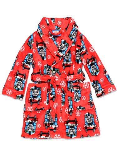 Thomas The Train and Friends Toddler Boys Fleece Bathrobe Robe (3T, Red) ()