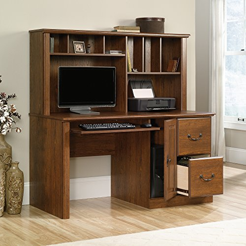 Sauder Orchard Hills Computer Desk with Hutch in Milled Cherry (Desk Cabinet Computer Cpu With)