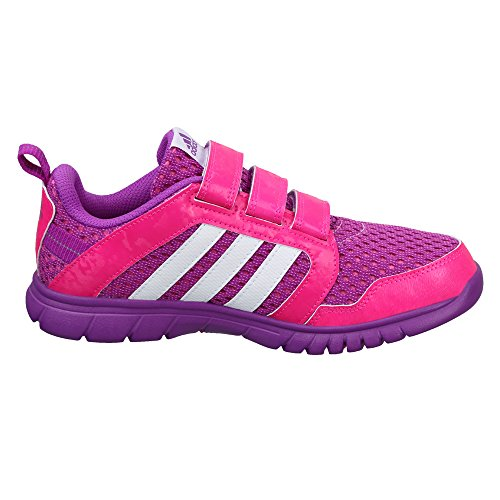 adidas Sta Fluid 3 Cf K, Zapatillas de Deporte para Niños Morado (Pursho / Ftwbla / Rosimp)
