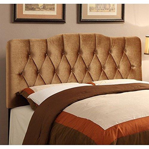 Pulaski Upholstered Soft Shape Headboard, King, Velvet Bronze