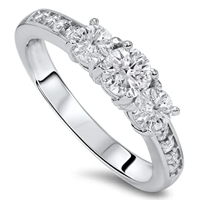 ring chloe diamond set low engagement youtube watch