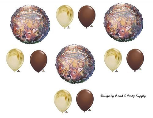 Deer hunting Camouflage Birthday Party Balloons Favors Decorations Supplies -