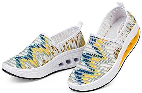 Scarpe Da Donna Per Adulti Maglia Scarpe Da Passeggio Moda Casual Sneakers Giallo