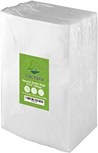 Premium!! VacYaYa100 Quart 8 x 12 Inch Food Saver Freezer Vacuum Sealer Storage Bags for Food Saver,Vac Seal a Meal Bags,BPA Free Sous Vide Vaccume Safe PreCut Bag