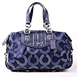Coach Ashley Dotted Navy Satchel 20015, Bags Central