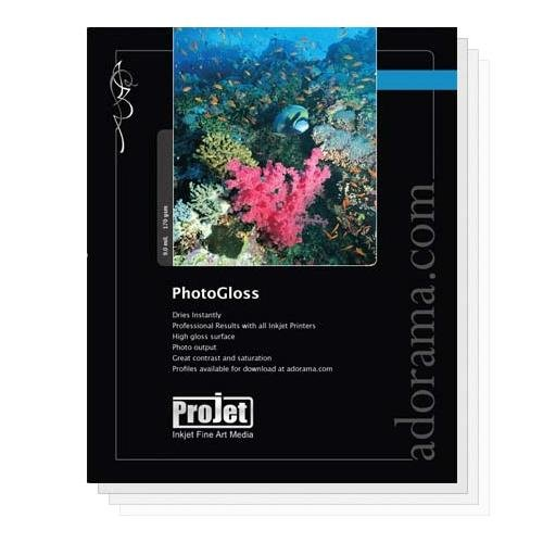 (Projet Photo Gloss Resin Coated Inkjet Paper, 9.0 mil., 170 GSM, 8x10