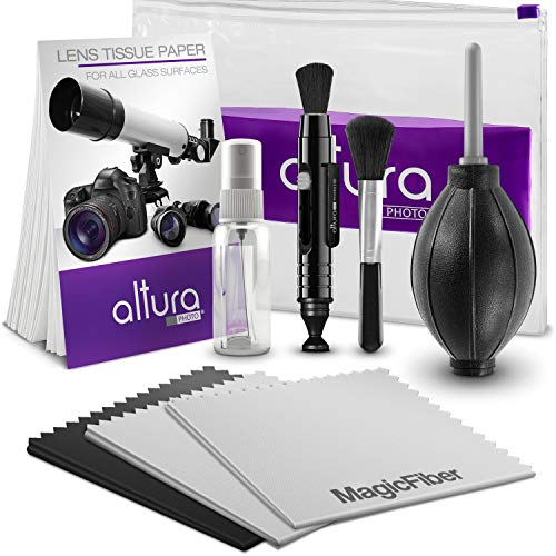 Altura Photo Professional Cleaning Kit for DSLR Cameras and Sensitive Electronics Bundle with Refillable Spray Bottle from Altura Photo