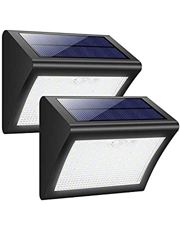 Trswyop Solar Light - Lámpara Solar Exterior con Sensor de Movimiento, Luces de Pared con