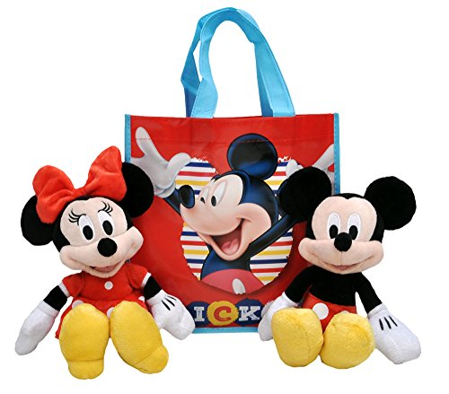 key & Minnie Mouse 2-Pack in Tote Bag (Disney Character Plush Doll)