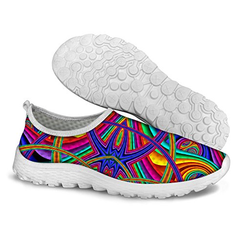 FOR U DESIGNS Stylish Lightweight Summer Breathable Mesh Sport Running Shoes For Women Multi A2 JhW5MdHbq