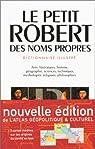 Le Petit Robert des noms propres 2002 par Robert