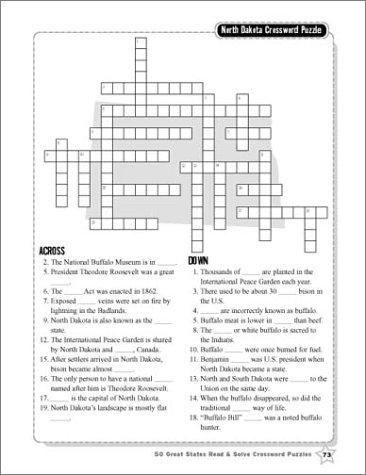 Amazon.com: 50 Great States Read & Solve Crossword Puzzles ...