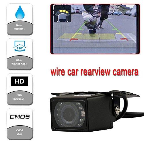 (NszzJixo9 Night Vision Waterproof HD CMOS Reverse Car Rear View Backup Parking Camera LED Backup Camera Night Vision Waterproof)