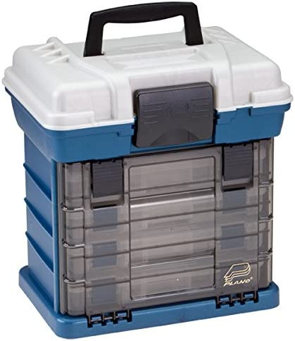 Plano Molding 1364 Stow N Go Tool Box with 4 23650 Series StowAways, Graphite Gray and Sandstone