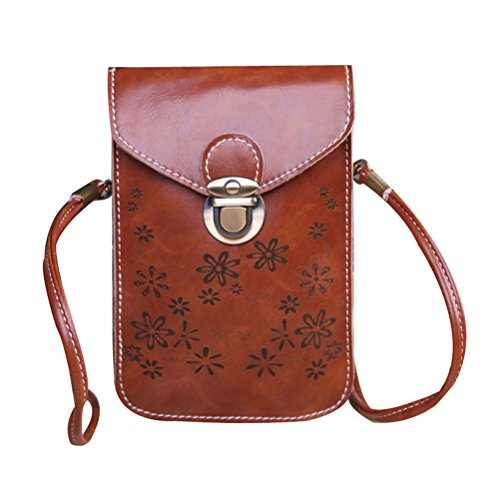 Small Bag Crossbody PU Leather Weave Donalworld Cell Pt3 Bag Phone 7pxfgg