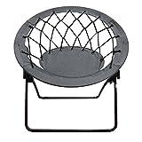 OCC Bungee Web Chair (Round), Lightweight Portable Folding Chair-Grey