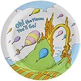 Dr. Seuss Oh The Places You'll Go Graduation Party Supplies Dessert Plate Pack (8)