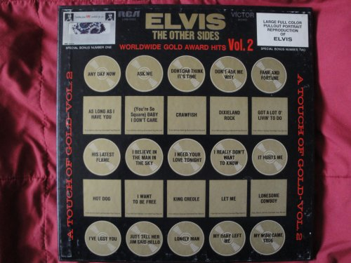 "Price comparison product image ELVIS ""The Other Sides"" Worldwide Gold Award Hits Vol. 2 4XLp Box Set RCA Victor LPM-6402 Mono Vinyl w / Bonus Poster & Clothing Swatch Nm"