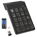Sumger Numeric Keypad 2.4G wireless Keyboard Mini Portable 18 Keys Number Pad Financial Accounting Keypad with USB Receiver wireless for iMac, MacBook , MacBook Air, MacBook Pro, Laptop, Desktop PC with AAA Battery