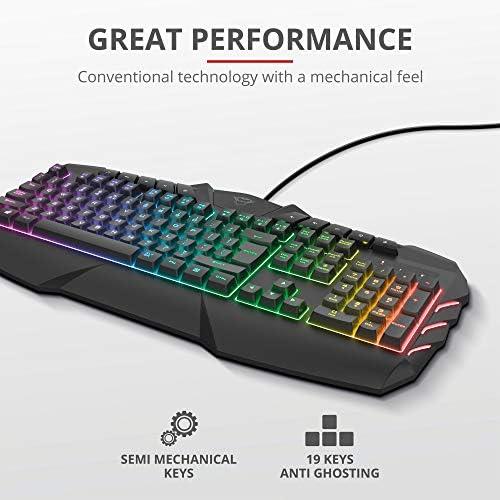 Trust Gaming Teclado Gamer LED RGB Semimecánico GXT 881 ODYSS ...