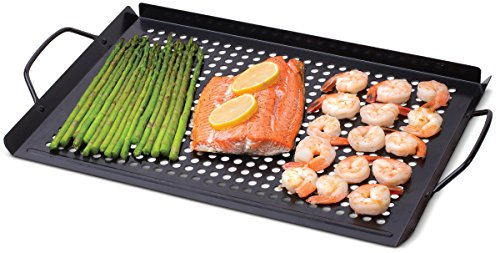 Corona Nonstick Grill Topper – Extra Large 11 x 16 Inch Rectangle BBQ Cooking Top For Gas And Charcoal Grills