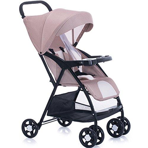 OLizee Premium Quality Newborn Baby Foldable Infant Pushchair Pram Lightweight Stroller(Khaki)