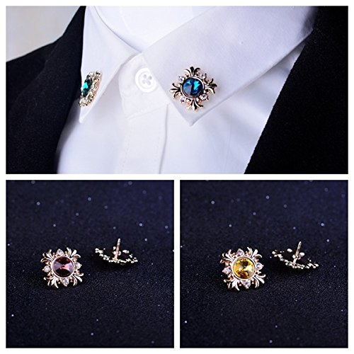 (Fashion clothing men's suits cross brooch pin collar pin diamond lapel collar blouse Korean flower corsage)