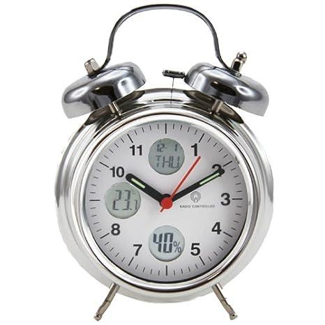 réveil radio pilotée 4 en 1 hygrométre thermomètre