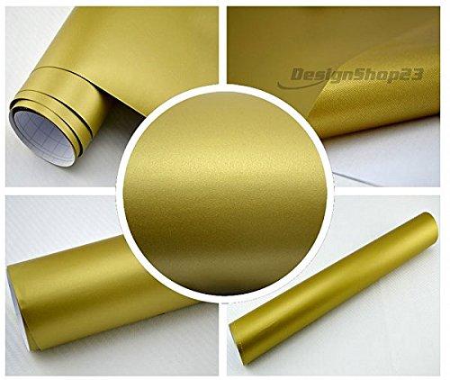4,28/€//m/² Auto Folie GOLD MATT 30 x 152 cm BLASENFREI selbstklebend flexibel Car Wrapping Klebe Folie