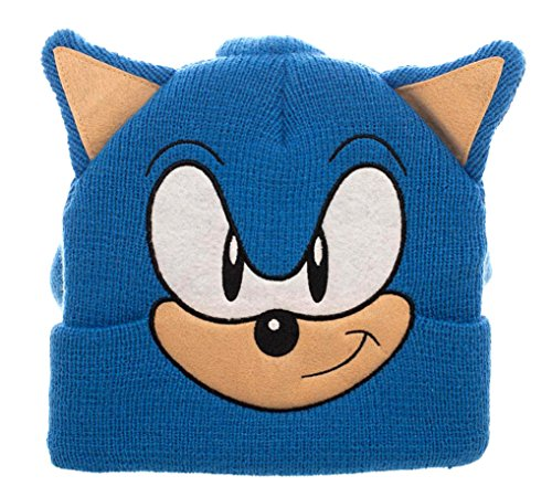 Sonic The Hedgehog 3D Collectors Edition Costume Beanie , Blue , One Size