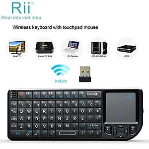 Rii Mini RT-MWK01 - Teclado táctil Wireless (Radio Transfer, PC / Mac, keyboard)