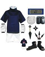 LYLAS Naruto Uchiha Sasuke Full Set Cosplay Costume