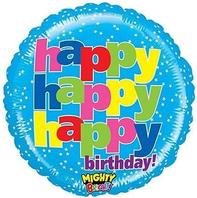 Amazon.com: Betallic globo 14305p Mighty feliz cumpleaños ...