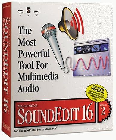 Soundedit 16 ( v. 2. 0 ) complete package 1 user cd mac.
